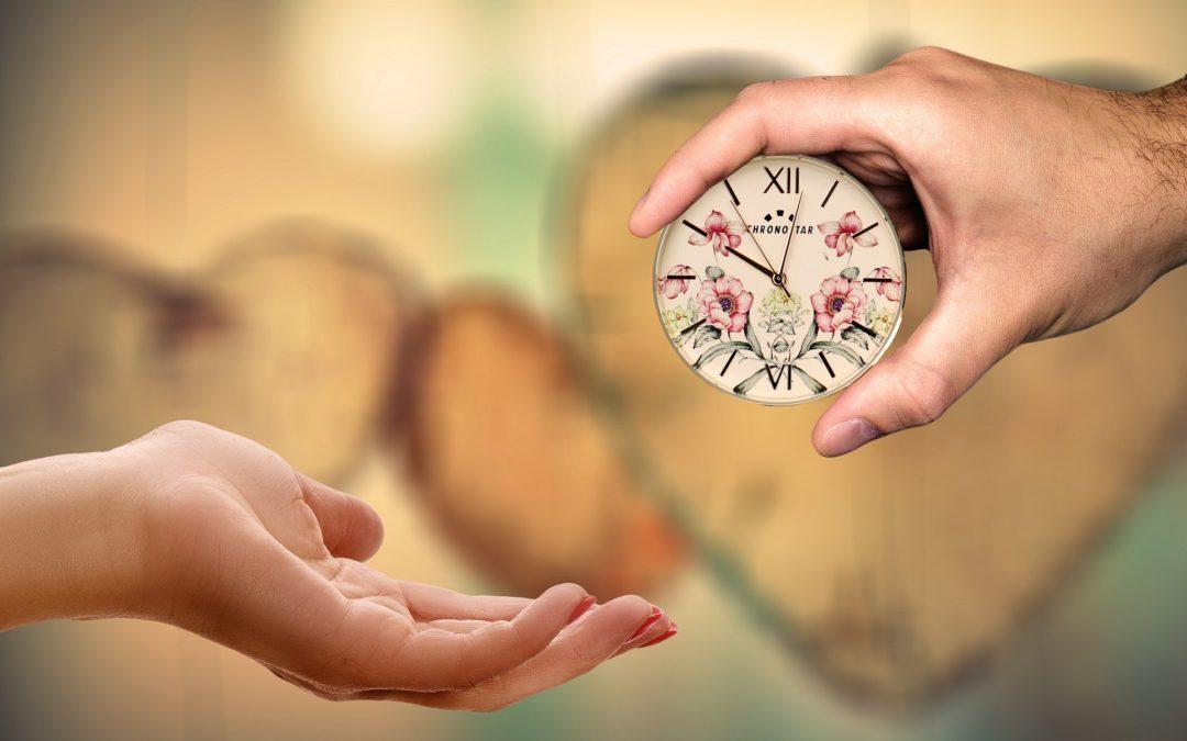 Es ist jetzt Zeit, sich Zeit zu nehmen
